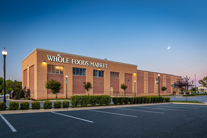 Photo of the Whole Foods Market in Lancaster, Pennsylvania showing brickwork by G.L. Wise Masonry